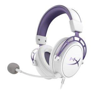 HyperX Cloud Alpha White/Purple at The Gamers Lounge Shop Malta