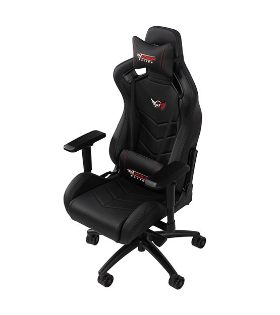 GT Omega Racing Sport Office Chair - Black at The Gamers Lounge Shop Malta