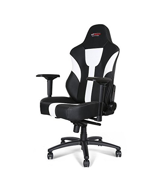 GT Omega Racing Master XL Office Chair White at The Gamers Lounge Shop Malta