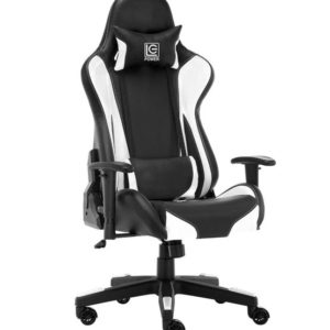 LC Power GC-600-BW Gaming Chair White at The Gamers Lounge Shop Malta