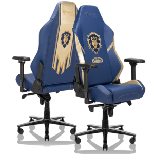 Secretlab OMEGA World of Warcraft Alliance Edition Front and back