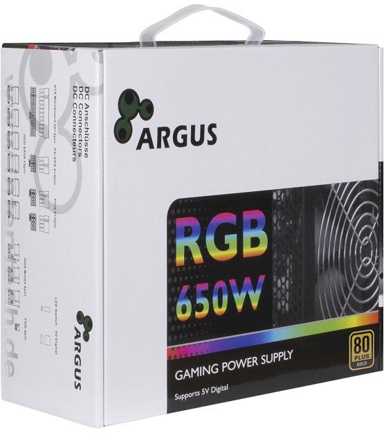 Argus 650w Modular RGB Gold PSU at The Gamers Lounge Shop Malta