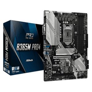 Asrock B365M PRO4 Motherboard Box + MOBO